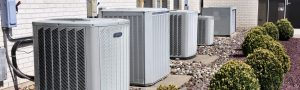 residential hvac units in a row